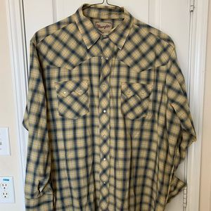 XXL Wrangler long Sleeve Pearl Snap Shirt